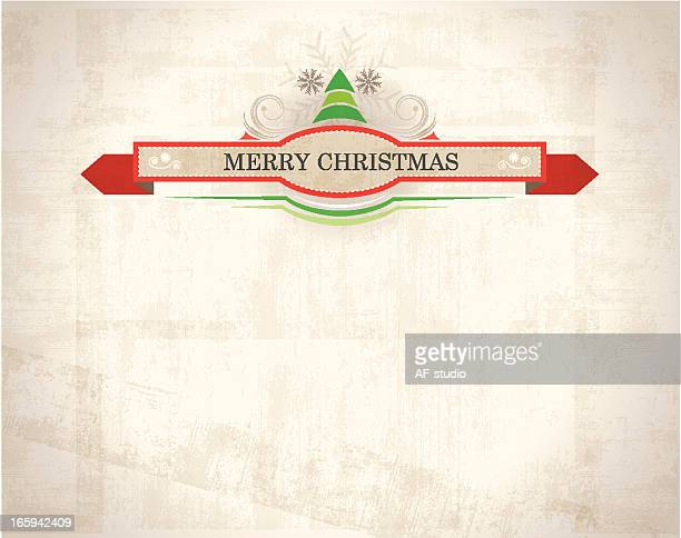 Christmas Background with Label