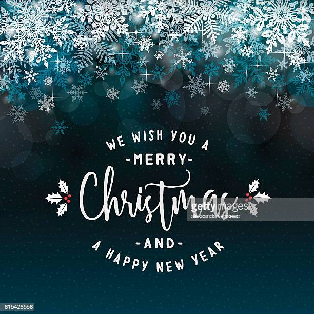 christmas background with layered snowflake border - elegance stock illustrations, clip art, cartoons, & icons