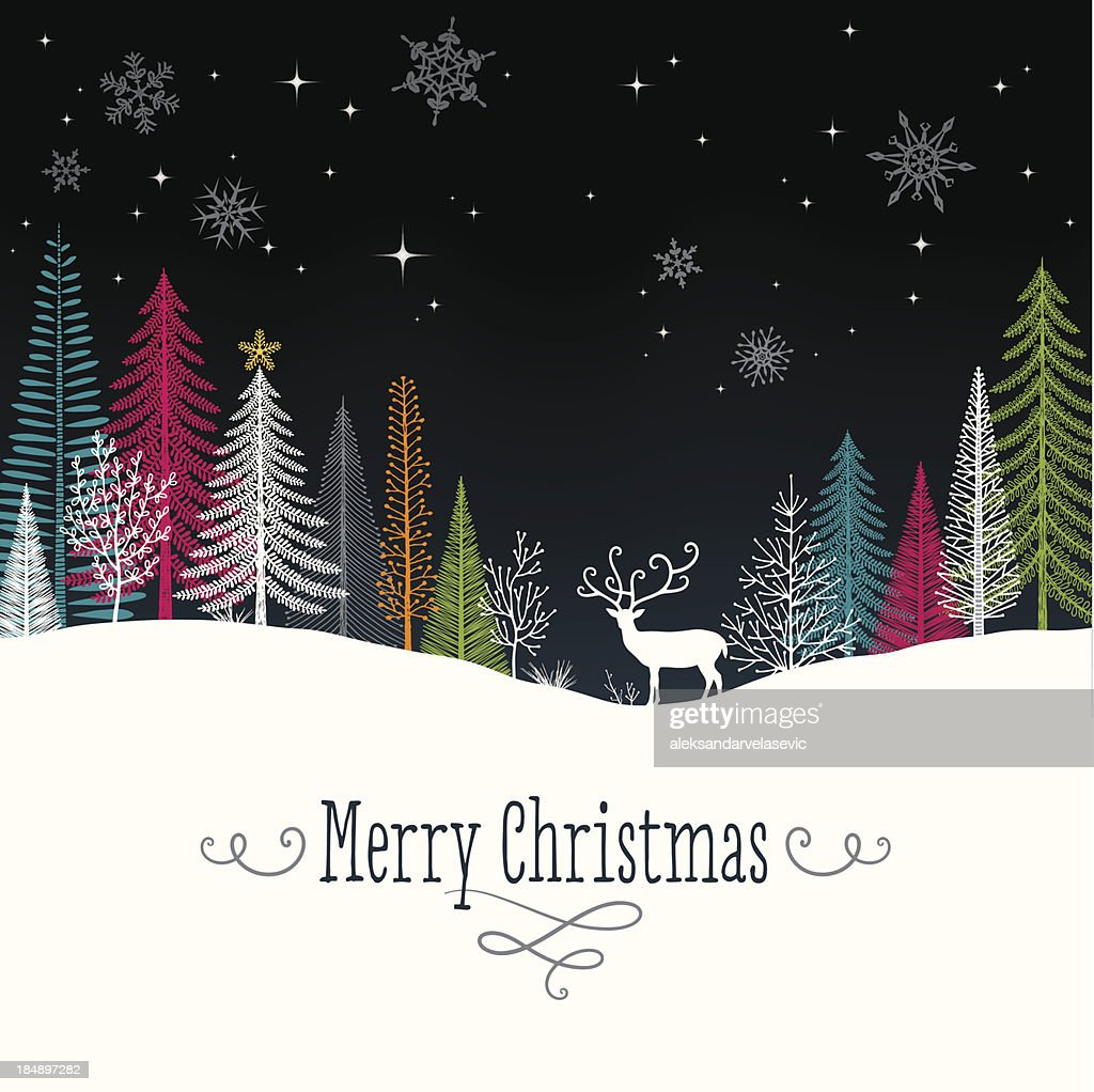 Christmas Background with Reindeer : stock illustration