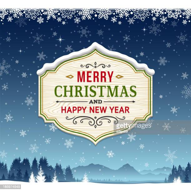 christmas background with sign - sign stock illustrations