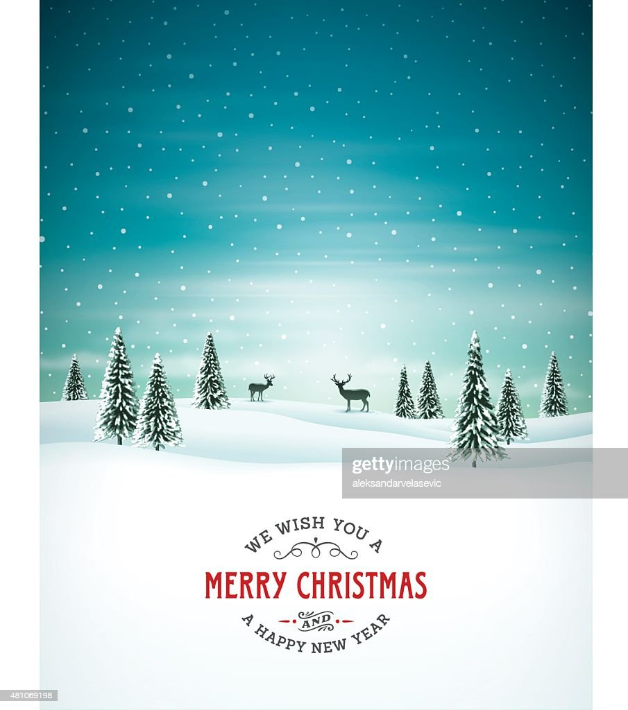 Christmas Background with Text : stock illustration