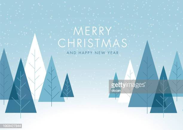 christmas background with trees. - winter stock illustrations
