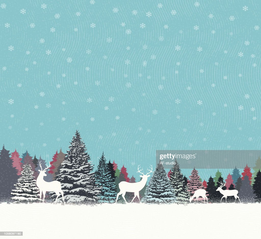 Christmas Background with Trees : stock vector