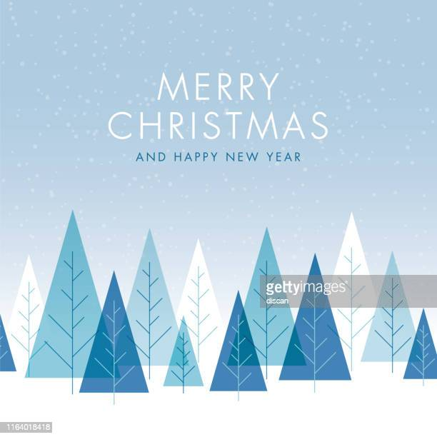 weihnachten hintergrund mit bäumen. - kieferngewächse stock-grafiken, -clipart, -cartoons und -symbole