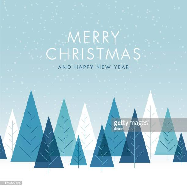 christmas background with trees. - vacations stock illustrations