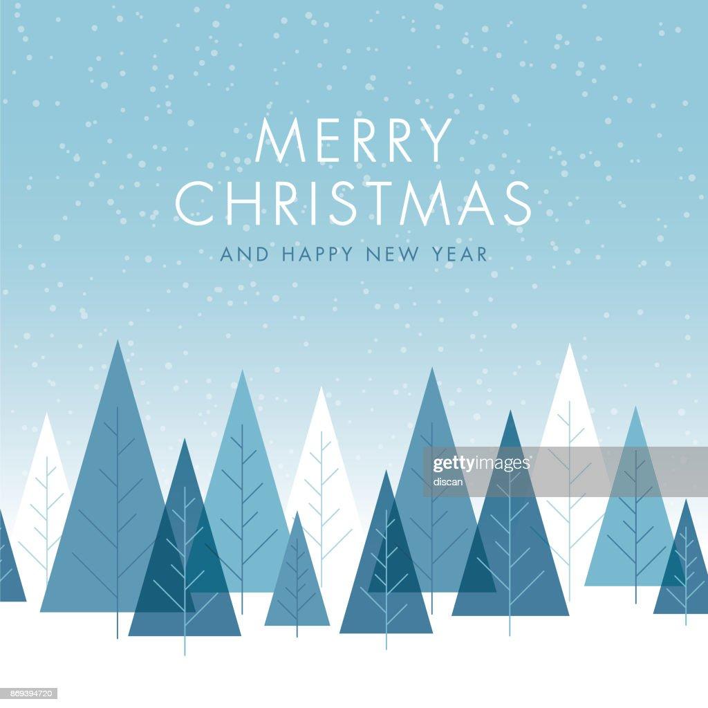 Weihnachten Hintergrund mit Bäumen. : Stock-Illustration