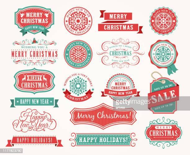 クリスマスバッジセット - アーカイブ画像点のイラスト素材/クリップアート素材/マンガ素材/アイコン素材