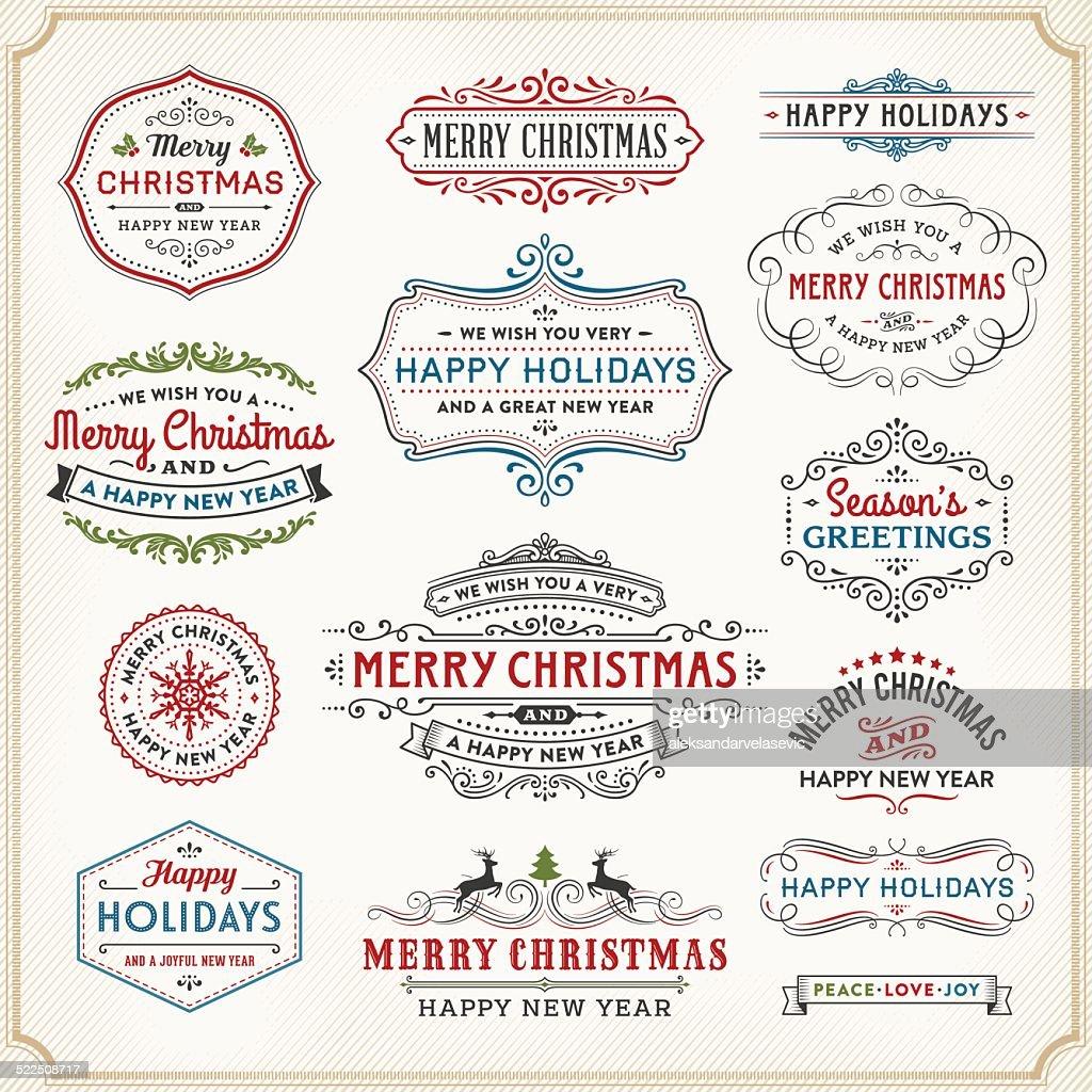 Christmas Badges,Frames and Labels : stock illustration