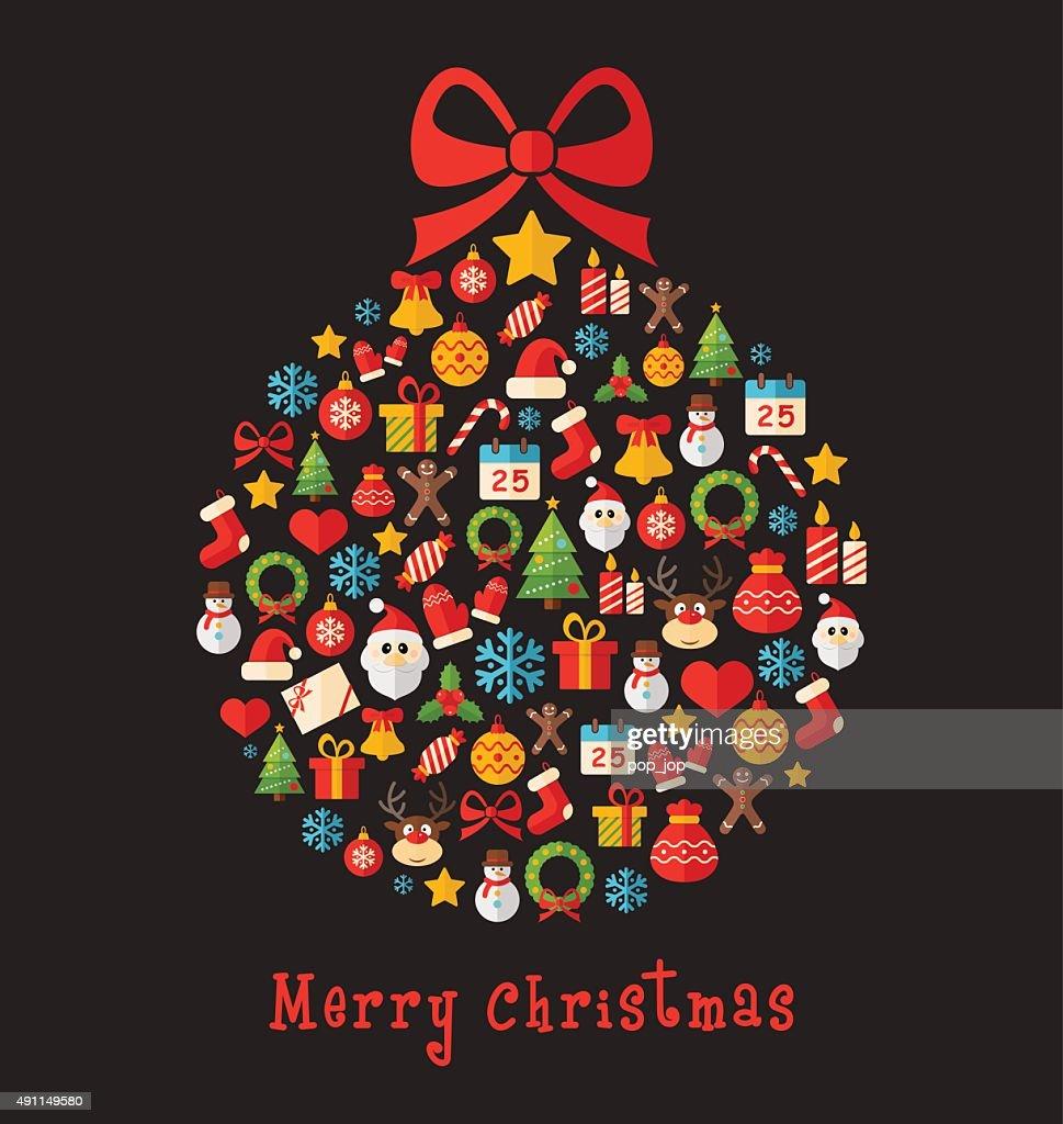 Christmas Ball - Greeting Card Illustration