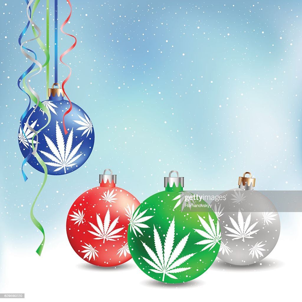 Christmas balls cannabis hemp