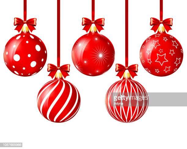 christmas balls - wallpaper decor stock illustrations, clip art, cartoons, & icons