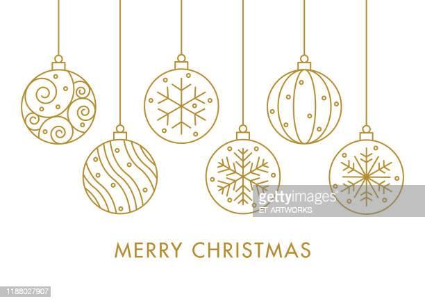 ilustrações, clipart, desenhos animados e ícones de bolas de natal - natal