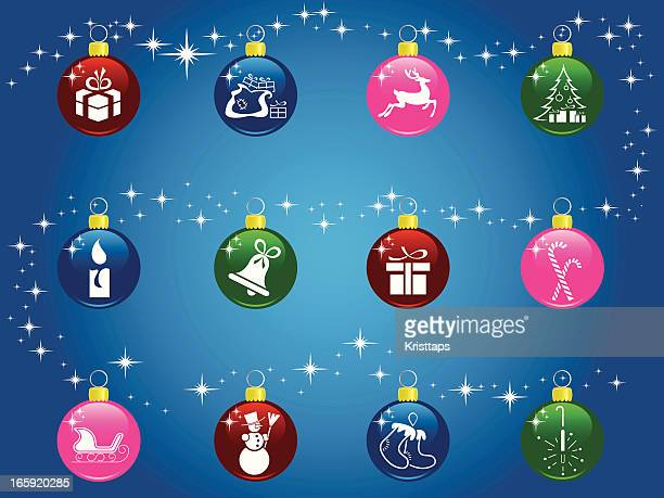 christmas balls - goodie bag stock illustrations, clip art, cartoons, & icons