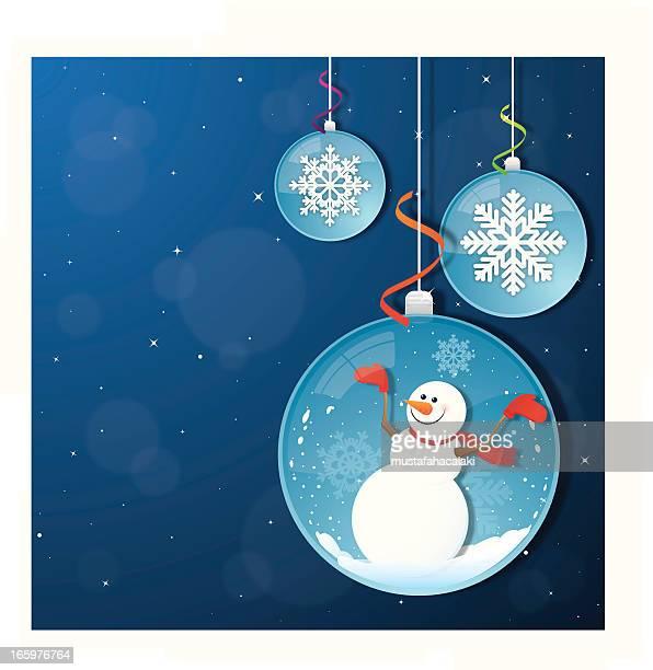 Christmas balls with snowman