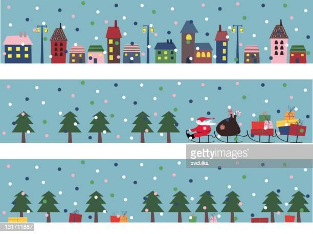 クリスマスバナー - 橇点のイラスト素材/クリップアート素材/マンガ素材/アイコン素材