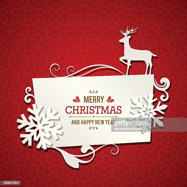 christmas banner - christmas paper stock illustrations