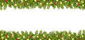 Christmas Banner with Christmas Tree Garland