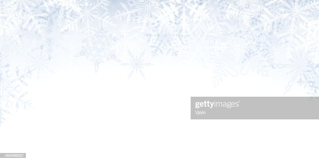 Christmas banner with crystallic snowflakes