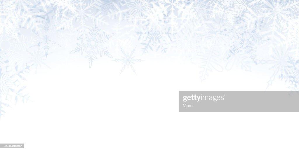 Christmas banner with crystallic snowflakes