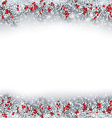 Christmas Banner with Silver Fir Twigs
