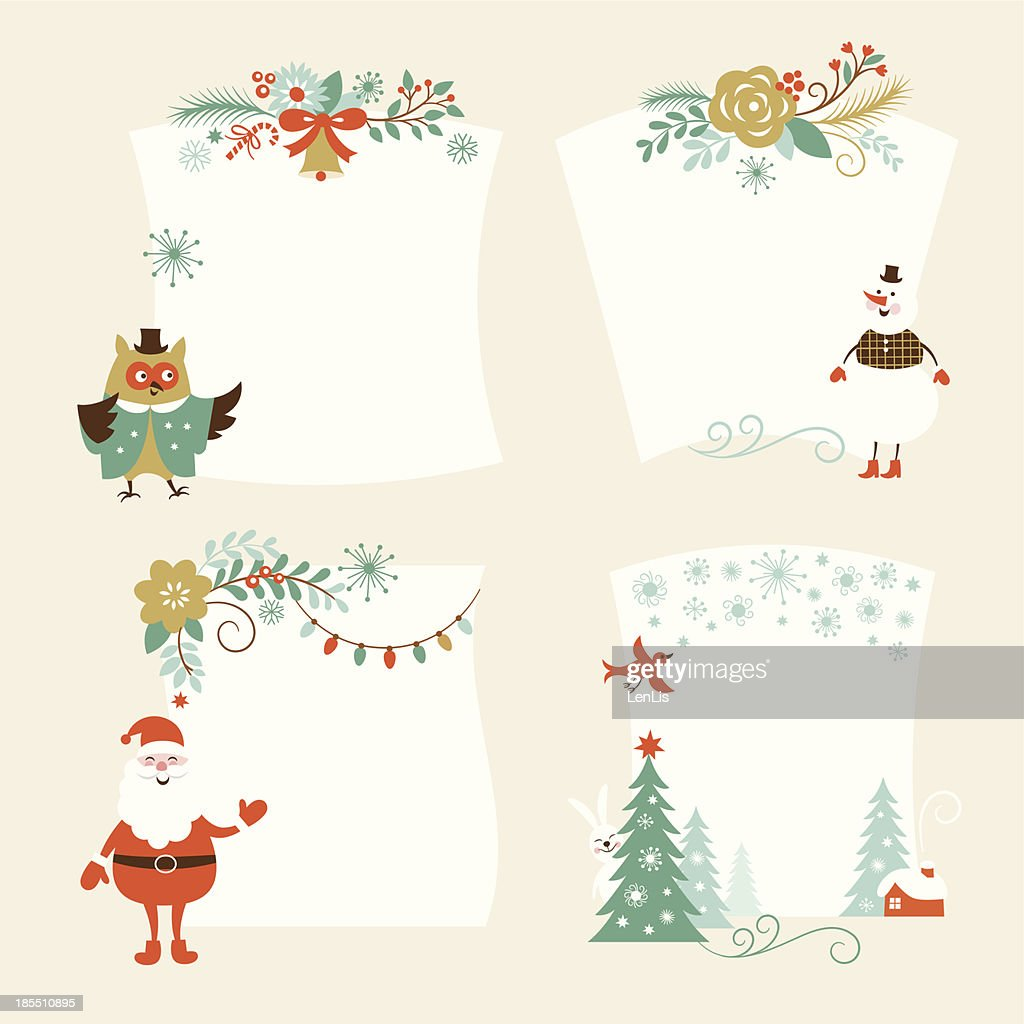 Christmas banners for Christmas cards