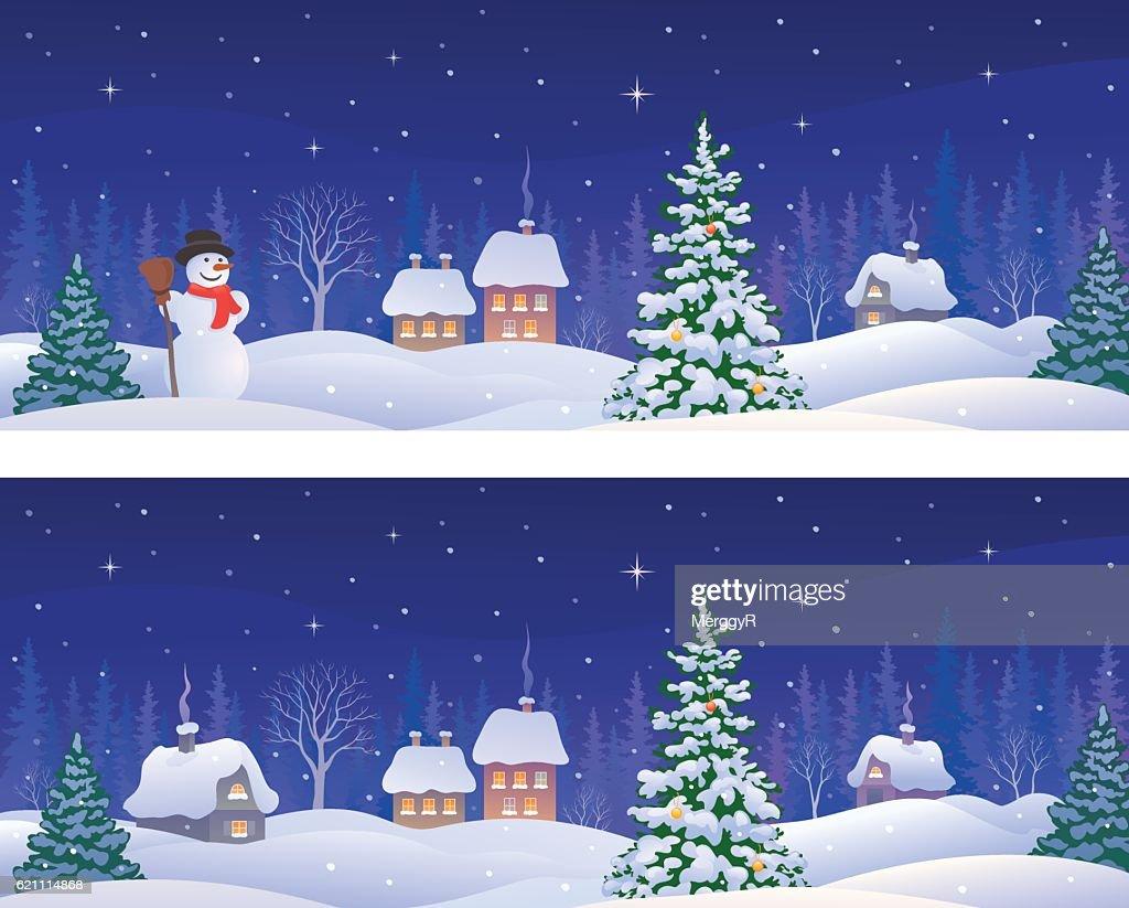 Christmas banners panoramas
