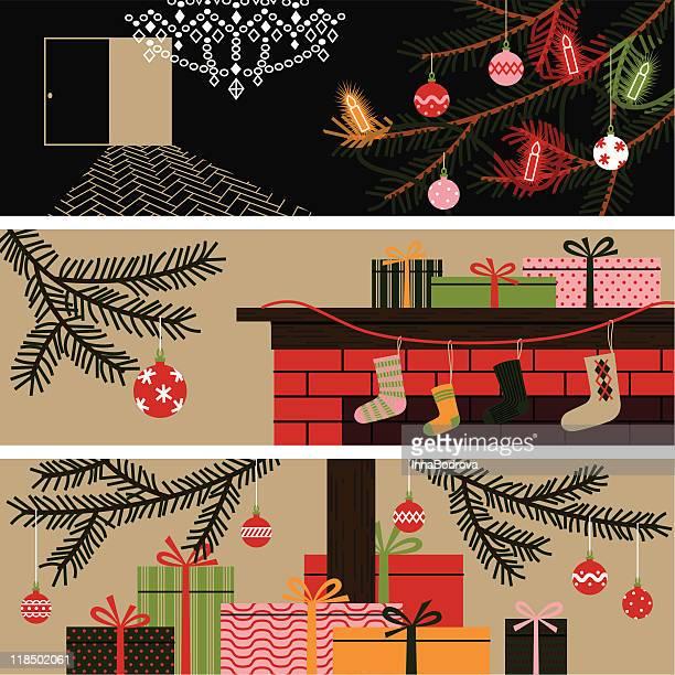 Christmas banners.