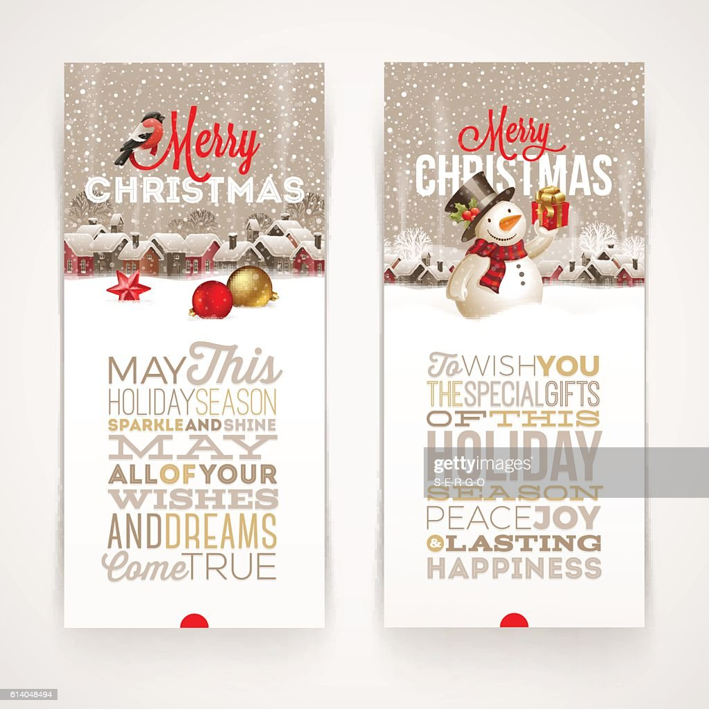 Christmas banners with type design