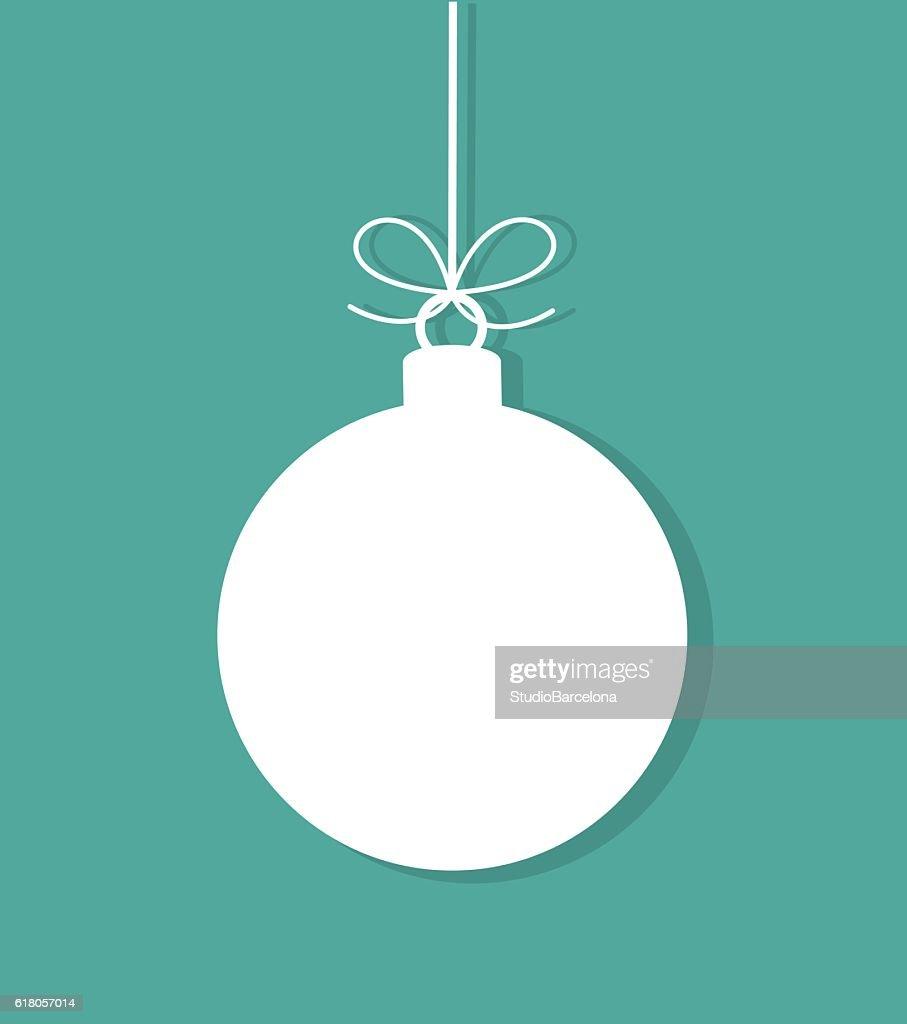 Christmas bauble tag