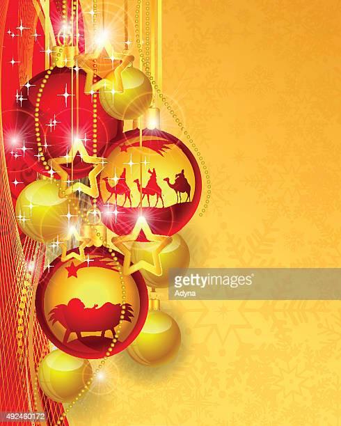 christmas bauble - star of bethlehem religious symbol stock illustrations, clip art, cartoons, & icons