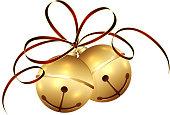 Christmas bells and tinsel