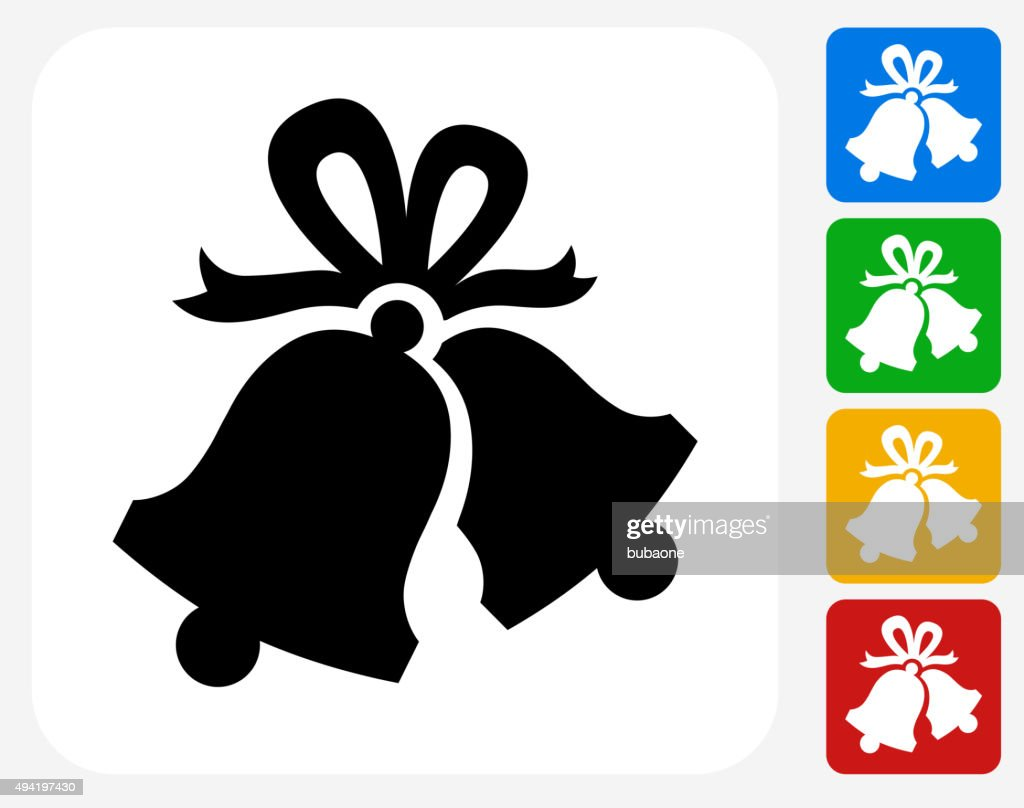 Christmas Bells Icon Flat Graphic Design