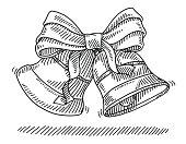 Christmas Bells Ribbon Drawing