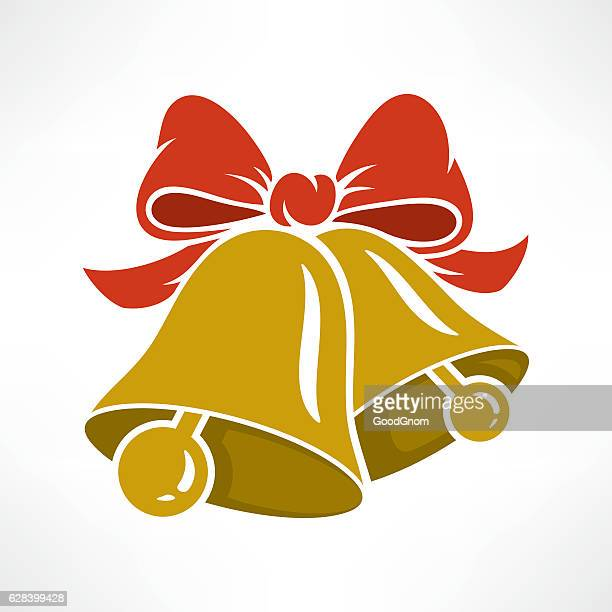 christmas bells - bell stock illustrations