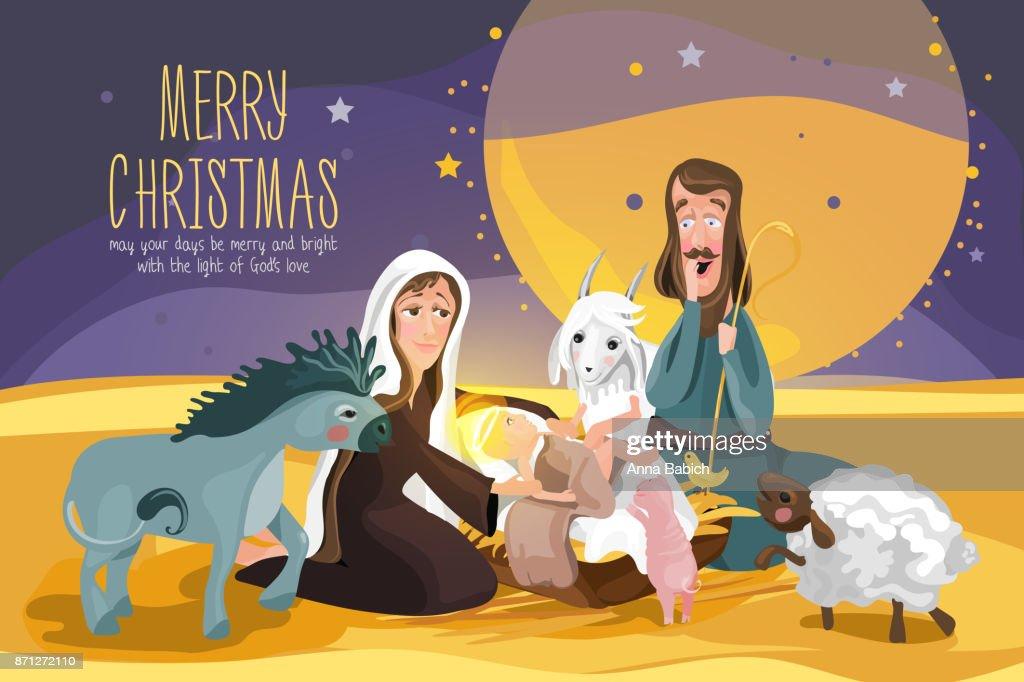 Christmas Bible Story. Christmas nativity card
