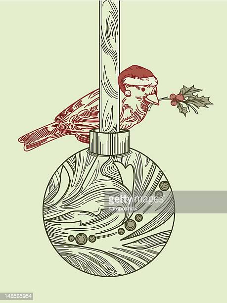 Weihnachten Vogel auf Ornament