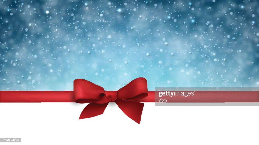 Christmas blue background with snow