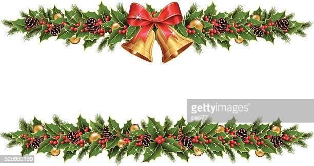 weihnachten grenze - - tannenzweig stock-grafiken, -clipart, -cartoons und -symbole