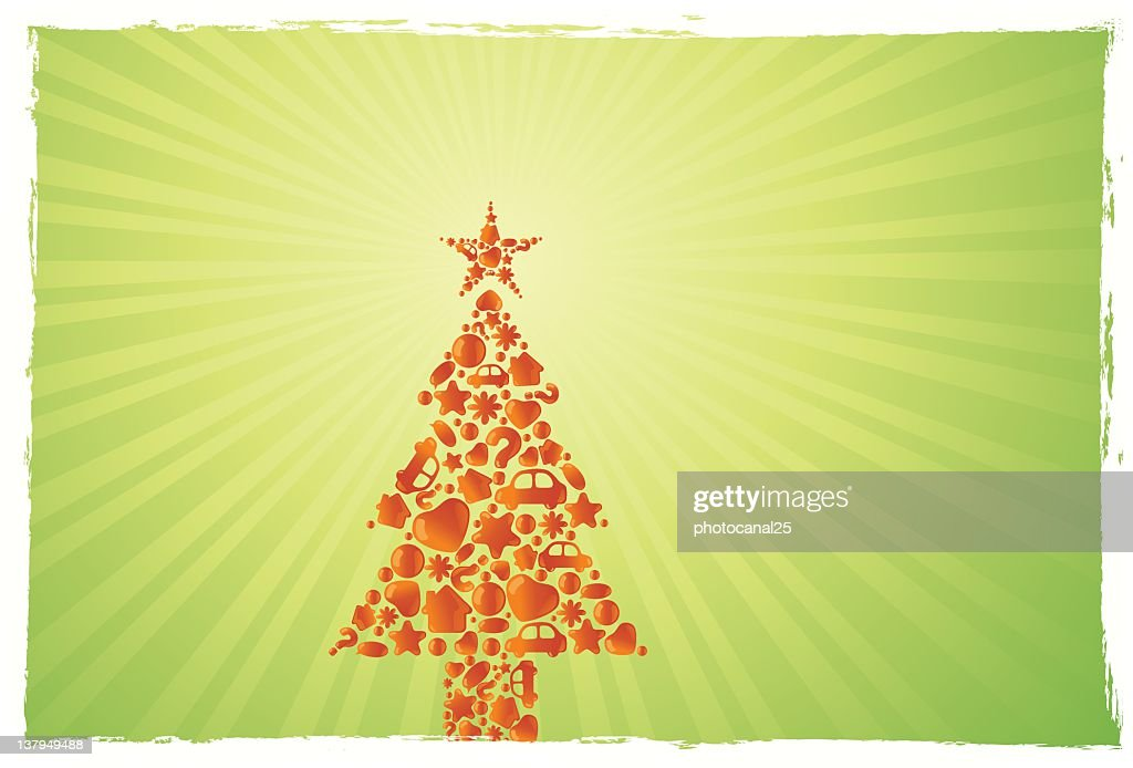 Christmas Bubble Tree : Vector Art