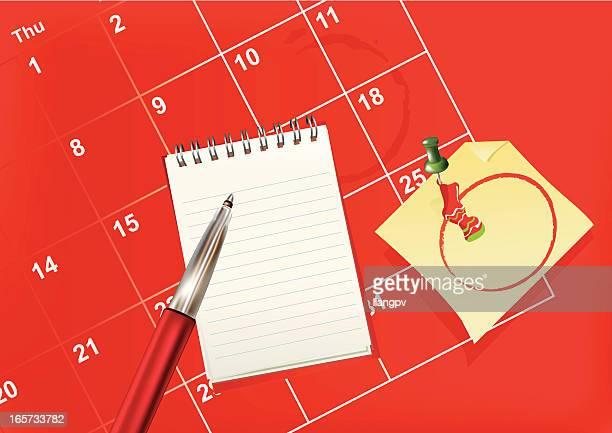 christmas calendar - shopping list stock illustrations, clip art, cartoons, & icons