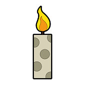 christmas candles decorative icon