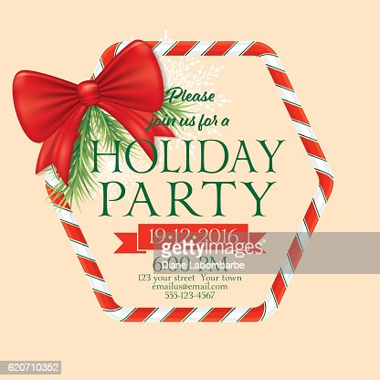 christmas candy cane border with bow and snowflakes vector art getty images