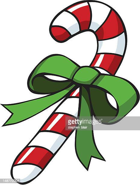 christmas candy cane - stehen stock illustrations