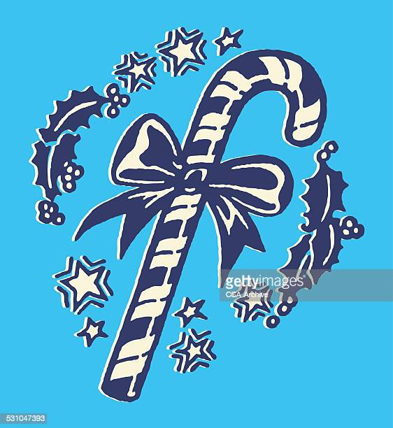christmas candy cane - candy cane stock illustrations