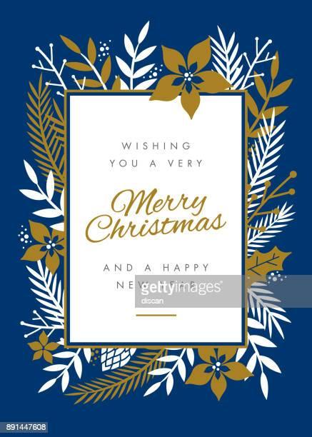 christmas card design with flowers. - mistletoe stock illustrations