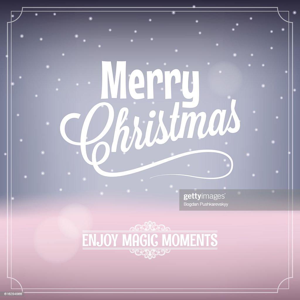 Christmas card magic night background : Arte vectorial