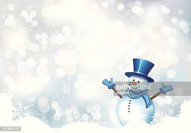 christmas card - snowman stock illustrations