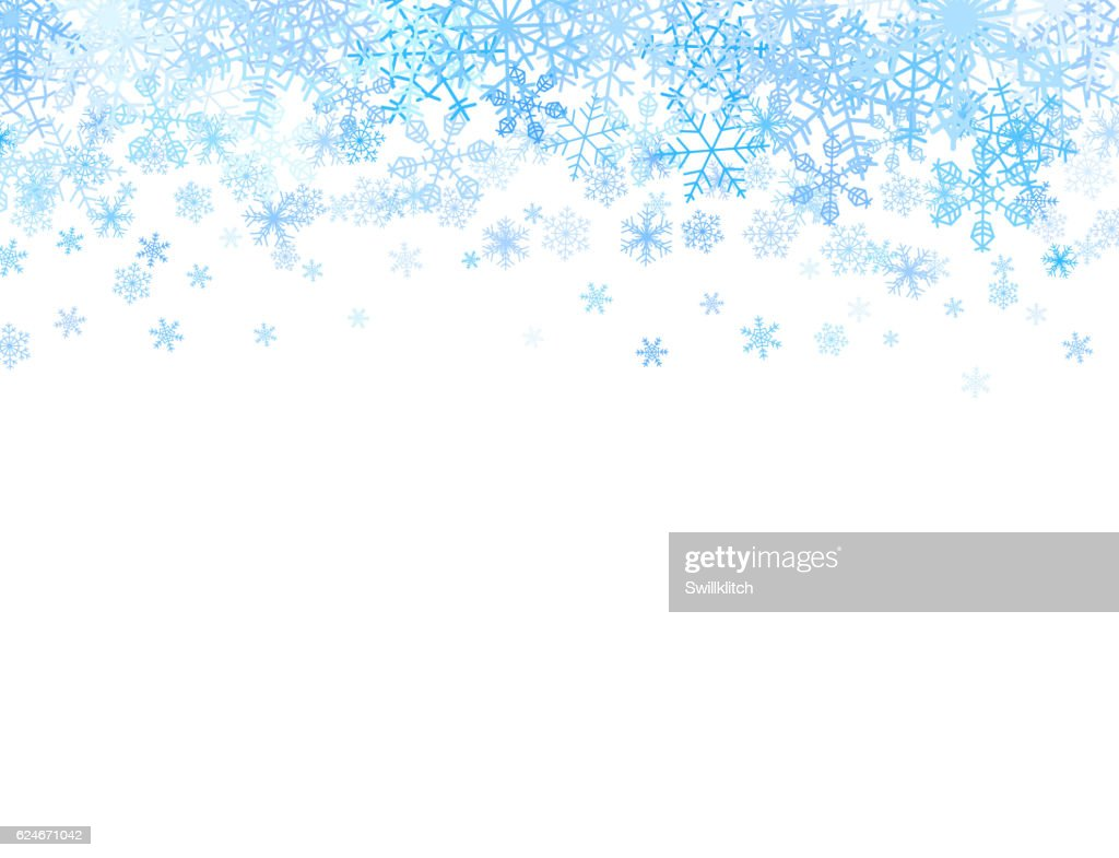 Christmas card with snowflakes on top