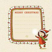 Christmas card with textbox.