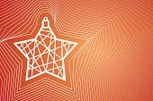 Christmas card.Minimal Christmas abstract background.Abstract Christmas ball
